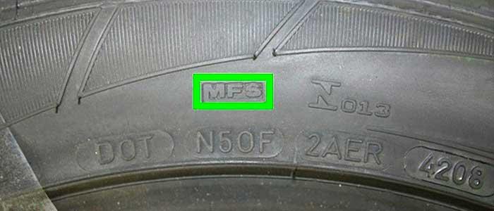Маркировка MFS — Maximum Flange Shield у шины Dunlop