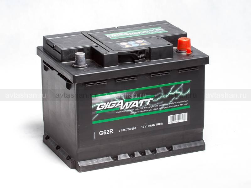 Аккумулятор GigaWatt G62R  alfaakbru